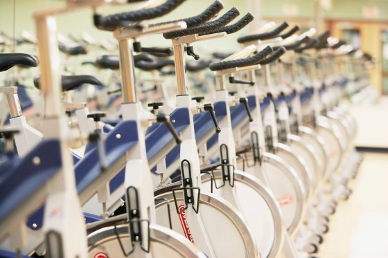 Row of Exercise Bikes
