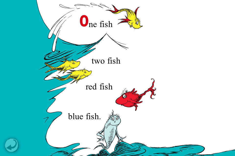 Black fish blue fish old fish new fish life loofah for Red fish blue fish