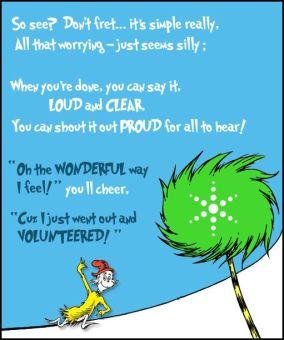 a volunteer